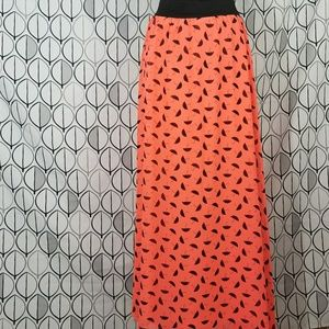 LulaRoe Neon Coral Umbrella Lucy Skirt UNICORN